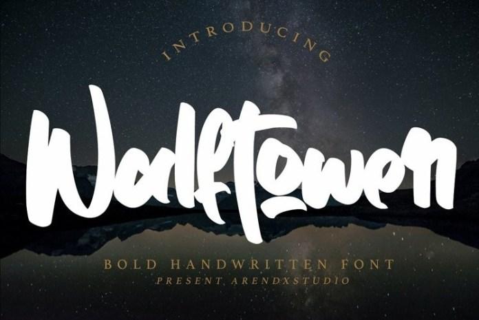 Walftower Brush Font