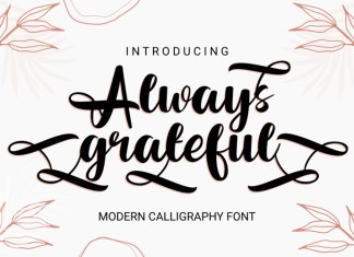 Always Grateful Calligraphy Font