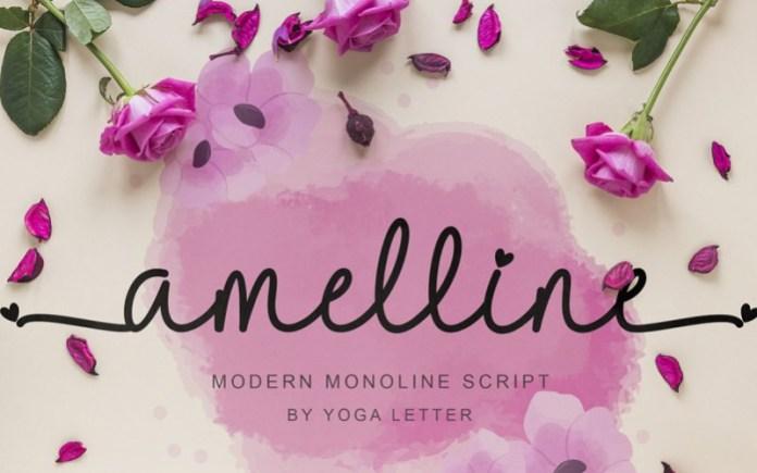 Amelline Handwritten Font