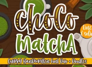 Choco Matcha Display Font