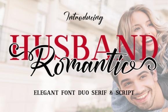 Husband Romantic Font Duo