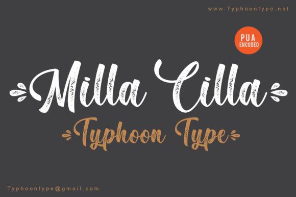 Milla Cilla Script Font
