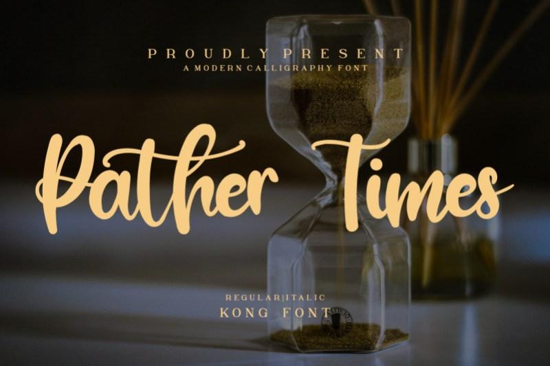 Pather Times Script Font