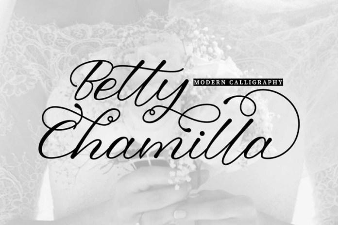 Betty Chamilla Calligraphy Font