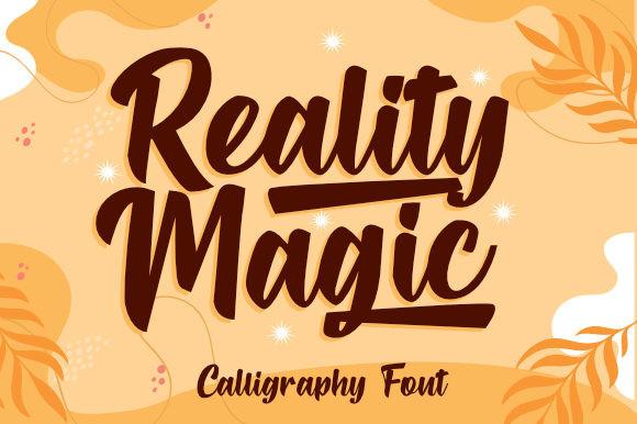 Reality Magic Script Font