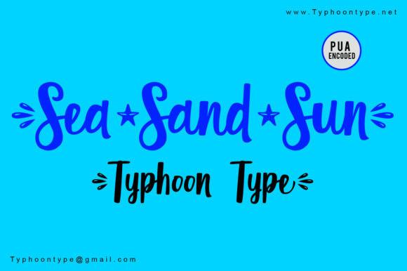 Sea Sand Sun Script Font