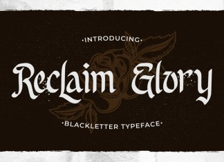 Reclaim Glory Display Font