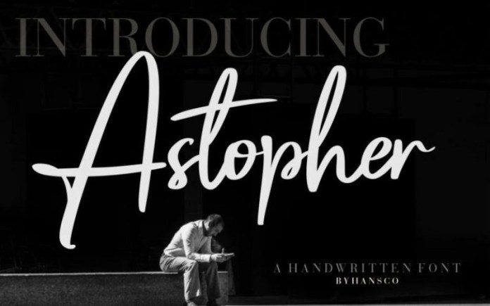 Astopher Handwritten Font