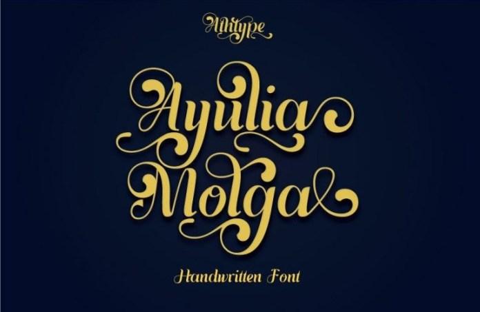 Ayulia Molga Calligraphy Font