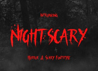 Nightscary Display Font