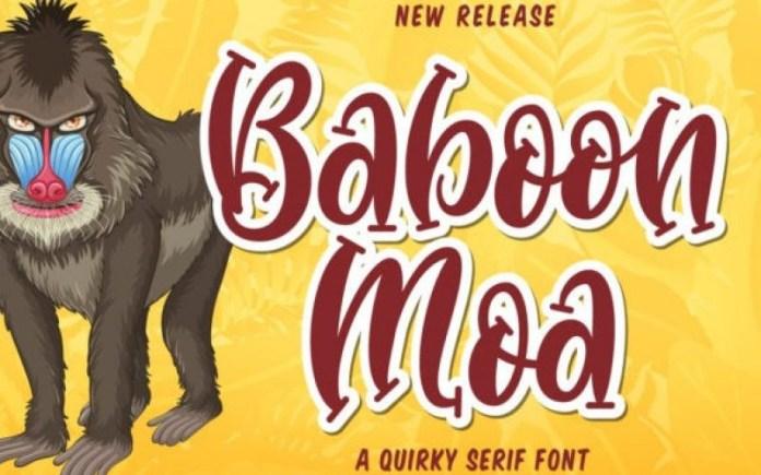 Baboon Moa Display Font