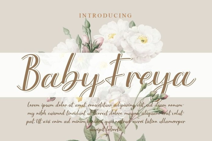 Baby Freya Script Font