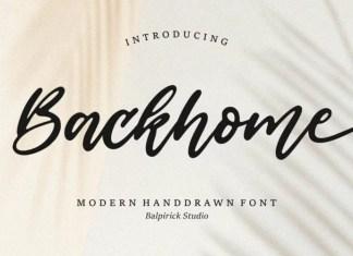 Backhome Script Font