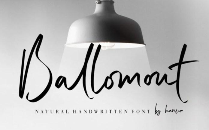 Ballomont Script Font