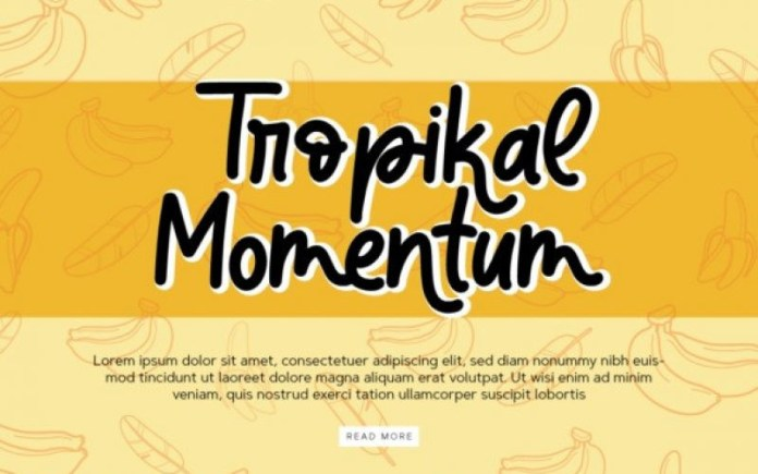 Banana Super Script Font