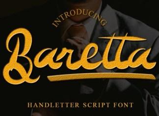 Baretta Script Font
