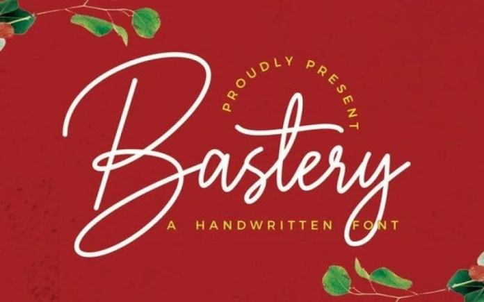 Bastery Handwritten Font