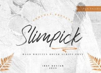 Slimpick Brush Font