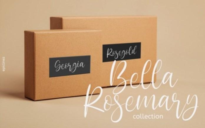 Bella Rosemary Calligraphy Font
