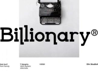 Billionary Slab Serif Font