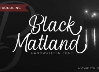 Black Matland Calligraphy Font