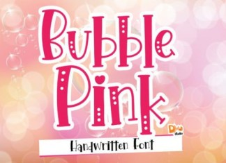 Bubble Pink Display Font