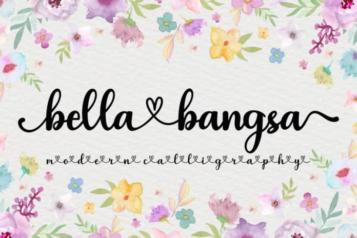 Bella Bangsa Script Font
