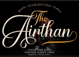 Airthan Calligraphy Font