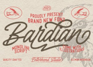 The Bardian Script Font