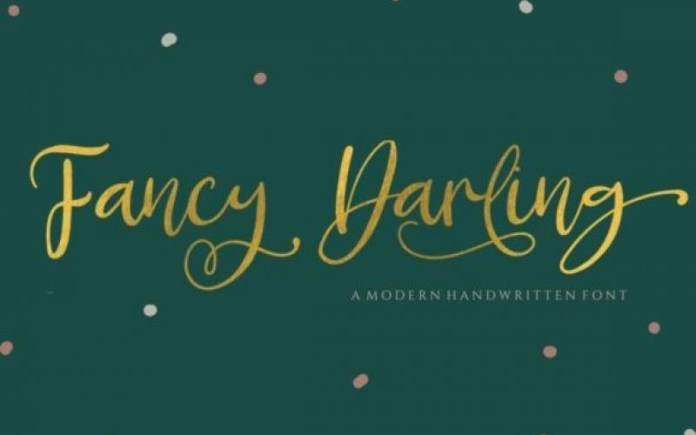 Fancy Darling Calligraphy Font