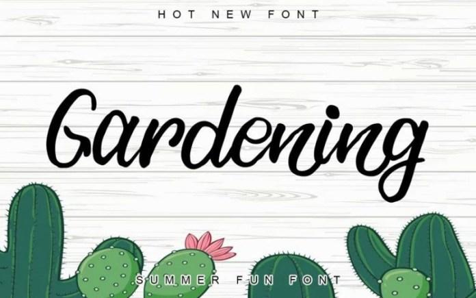 Gardening Script Font