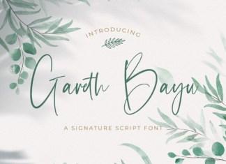 Gareth Bayu Script Font