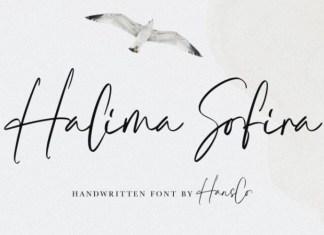 Halima Sofira Handwritten Font