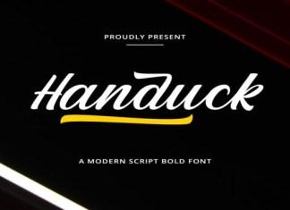 Handuck Script Font