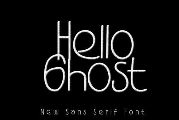 Hello Ghost Display Font