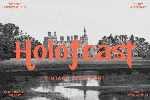 Holofcast Display Font