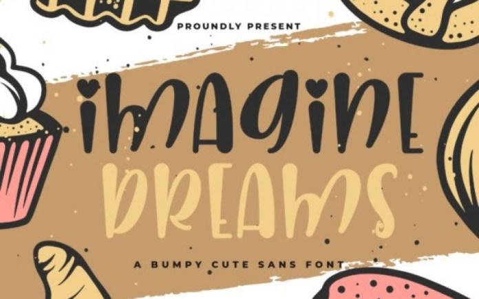 Imagine Dreams Display Font