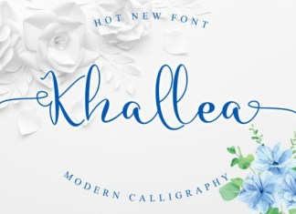 Khallea Calligraphy Font