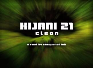 Kijani 21 Clean Display Font