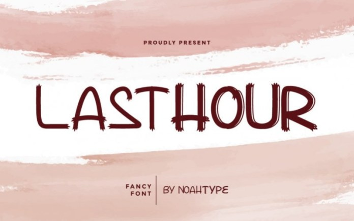 Lasthour Display Font