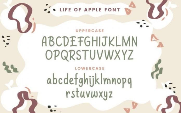 Life of Apples Handwritten Font