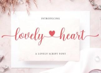 Lovely Heart Calligraphy Font