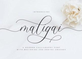 Maligai Calligraphy Font