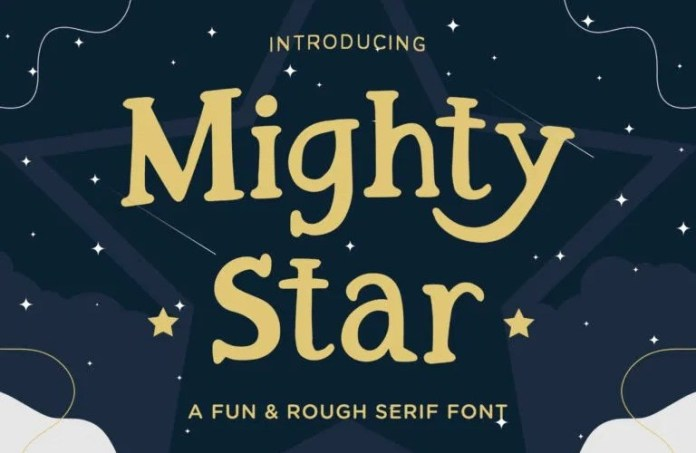 Mighty Star Display Font