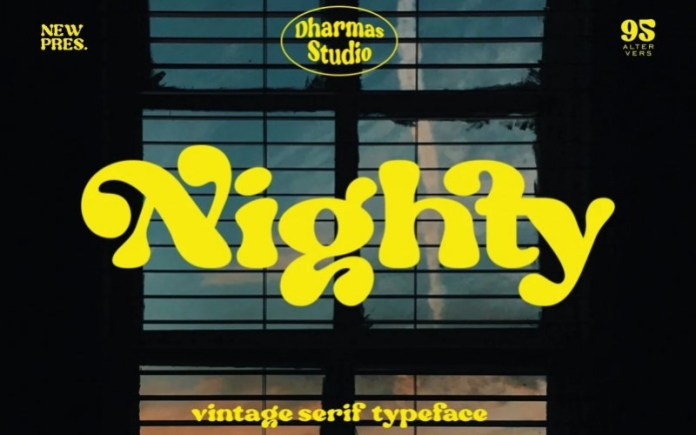 Nighty Display Font