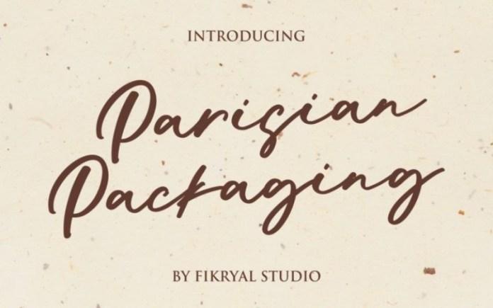 Parisian Packaging Handwritten Font
