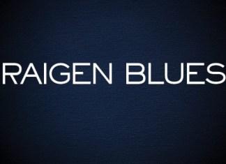 Raigen Blues Sans Serif Font