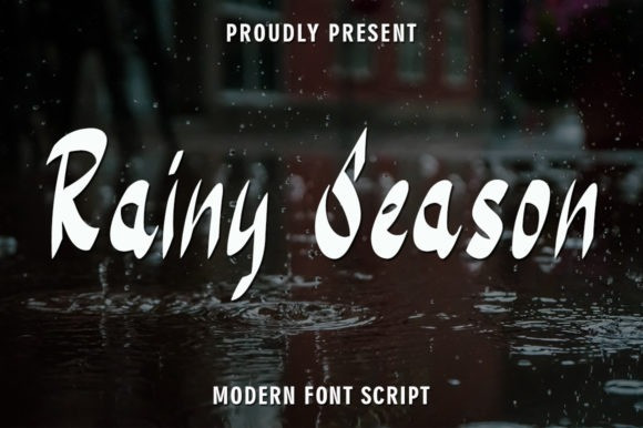 Rainy Season Brush Font