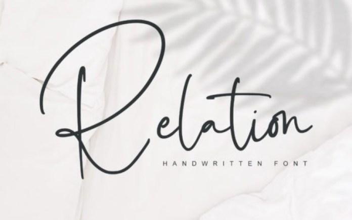 Relation Handwritten Font