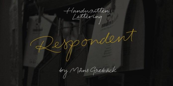 Respondent Handwritten Font